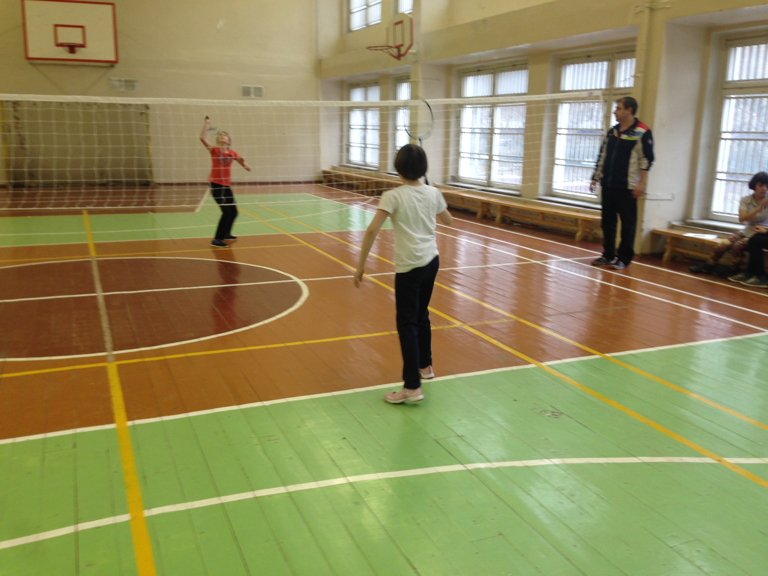Соревнования по бадминтону среди детей 4,5,6 классов