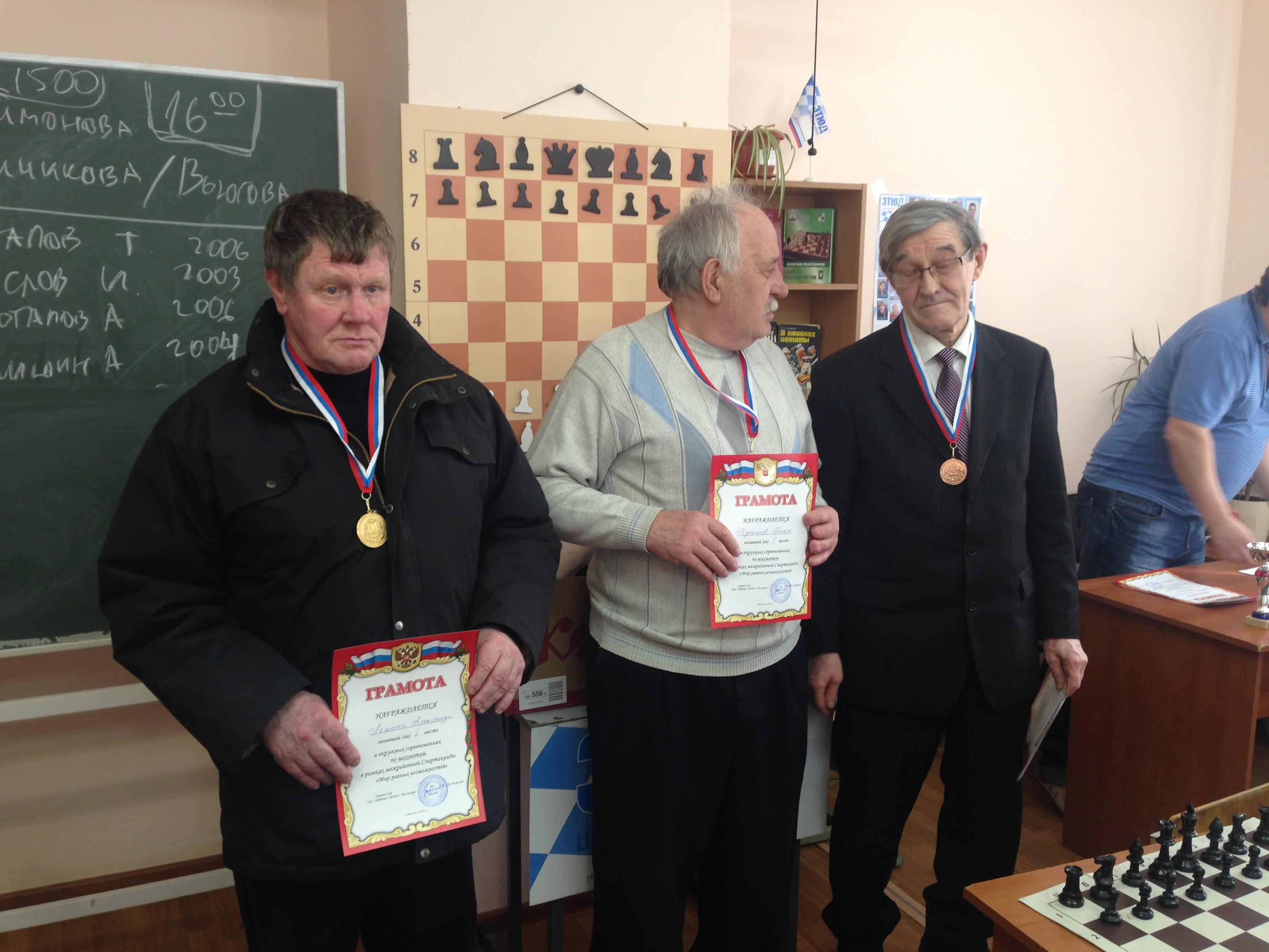 Окружные соревнования по шахматам среди людей с ограниченными возможностями здоровья