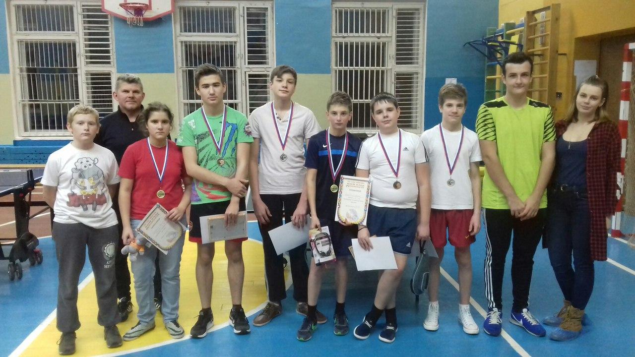 Турнир по настольному теннису среди учащихся