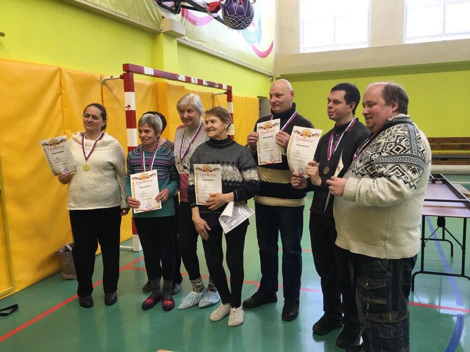 Соревнования по жульбаку среди лиц с ограниченными возможностями здоровья.