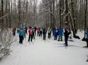 Соревнования по лыжным гонкам среди взрослых (21.01.2018).