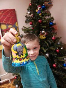 Мастер-класс по росписи новогодних колокольчиков